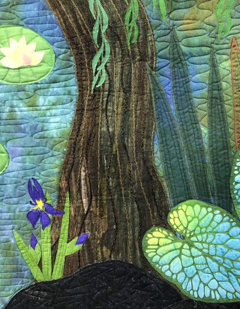 artquilt - lagoon art process