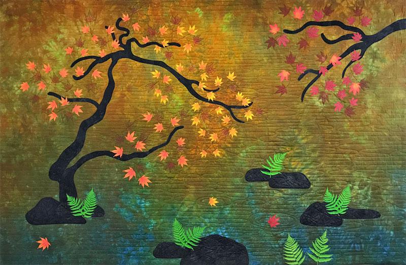 landscape quilt - autumn maples