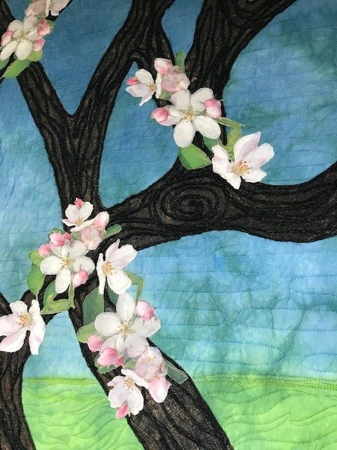 spring apple tree quilt