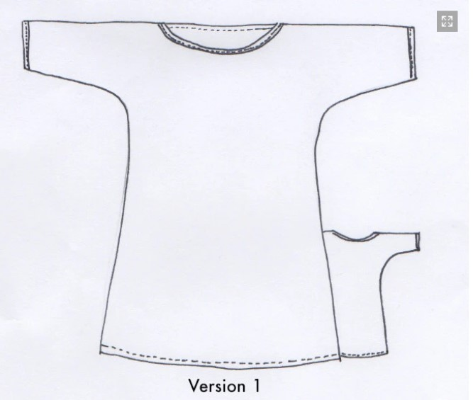 Ola tunic line drawing