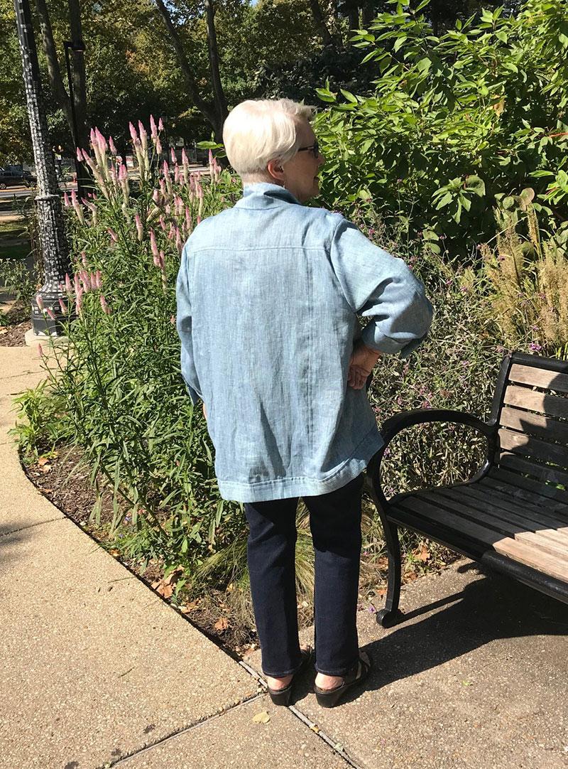 linen jacket back